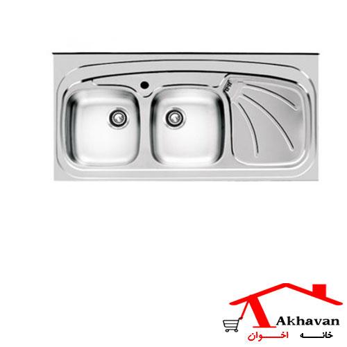 سینک ظرفشویی روکار کد 121SP اخوان - خانه اخوان