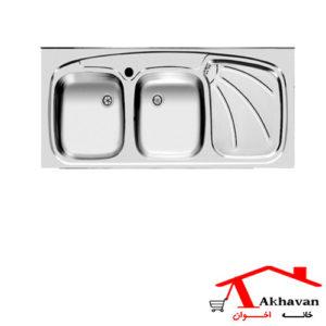 سینک ظرفشویی روکار کد 127 اخوان