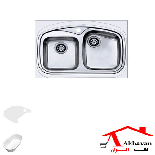 سینک ظرفشویی روکار کد 143 اخوان