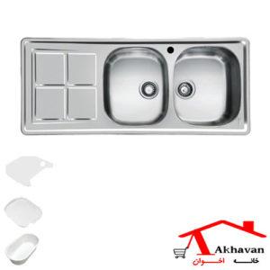 سینک ظرفشویی توکار کد 159 اخوان - خانه اخوان