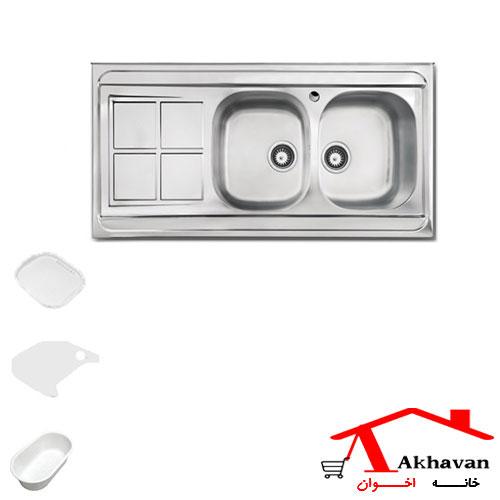 سینک ظرفشویی روکار کد 162 اخوان - خانه اخوان