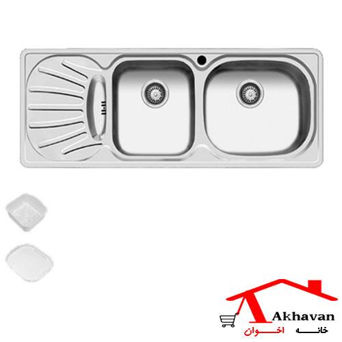 سینک ظرفشویی توکار کد 18 اخوان - خانه اخوان
