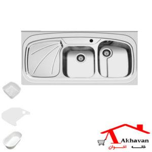 سینک ظرفشویی روکار کد 25 اخوان - خانه اخوان