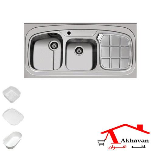 سینک ظرفشویی روکار کد 25cr اخوان