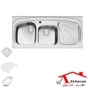 سینک ظرفشویی روکار کد 25sd اخوان - خانه اخوان