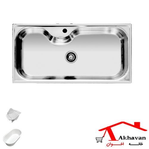 سینک ظرفشویی توکار کد 44 اخوان - خانه اخوان