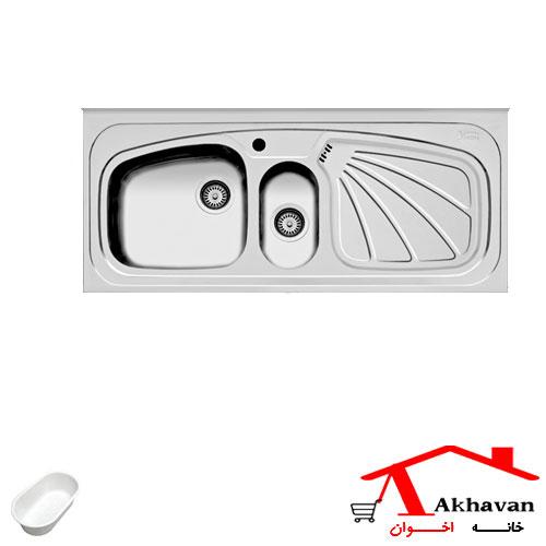 سینک ظرفشویی روکار کد 53 اخوان - خانه اخوان