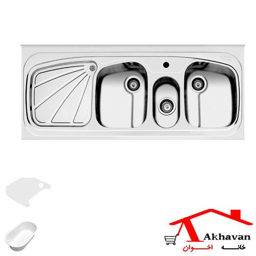سینک ظرفشویی روکار کد 57 اخوان - خانه اخوان