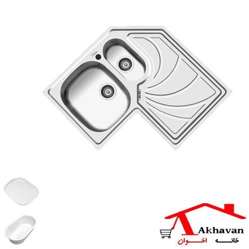 سینک ظرفشویی توکار کد 65 اخوان - خانه اخوان