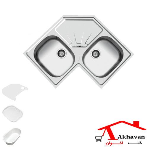 سینک ظرفشویی توکار کد 71 اخوان - خانه اخوان