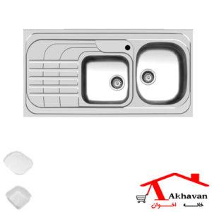 سینک ظرفشویی روکار کد 74 اخوان - خانه اخوان