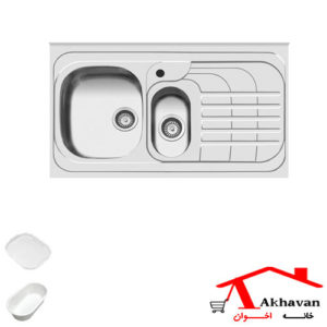 سینک ظرفشویی روکار کد 75 اخوان - خانه اخوان