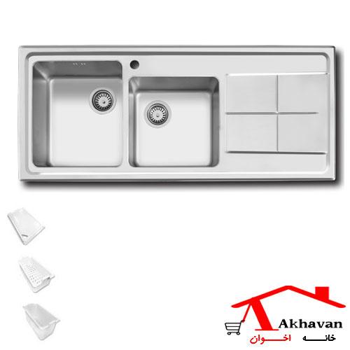 سینک ظرفشویی توکار کد 300 اخوان - خانه اخوان