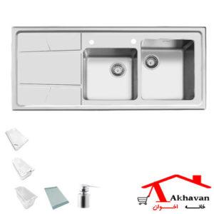 سینک ظرفشویی توکار کد 302 اخوان - خانه اخوان