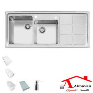 سینک ظرفشویی توکار کد 304 اخوان - خانه اخوان