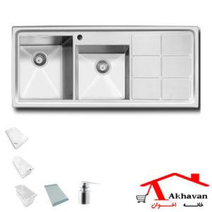 سینک ظرفشویی توکار کد 305 اخوان