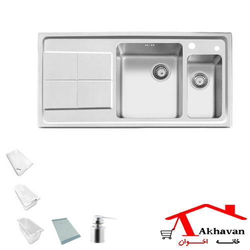 سینک ظرفشویی توکار کد 306 اخوان - خانه اخوان