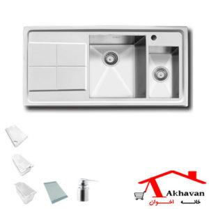 سینک ظرفشویی توکار کد 307 اخوان - خانه اخوان