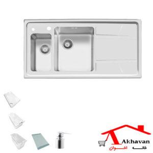 سینک ظرفشویی توکار کد 308 اخوان - خانه اخوان