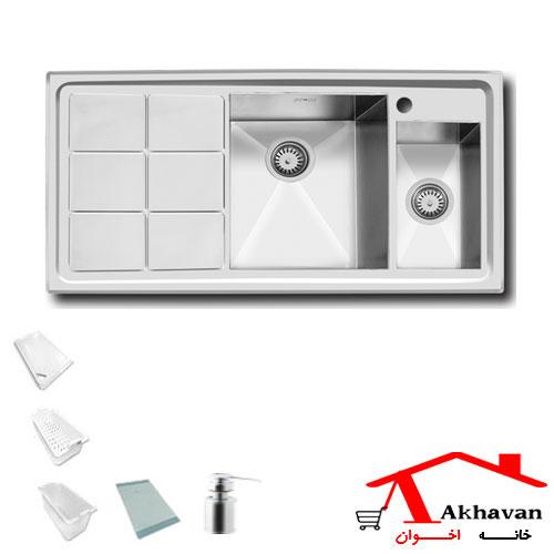 سینک ظرفشویی توکار کد 311 اخوان - خانه اخوان