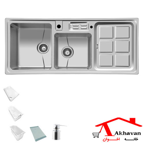 سینک ظرفشویی توکار کد 318 اخوان - خانه اخوان