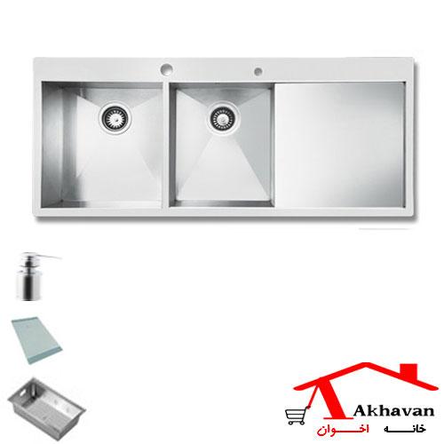 سینک ظرفشویی توکار کد 332 اخوان - خانه اخوان