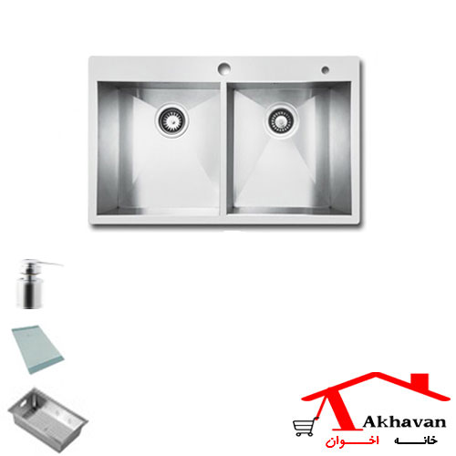 سینک ظرفشویی توکار کد 334 اخوان - خانه اخوان