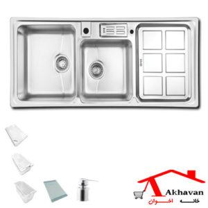 سینک ظرفشویی توکار کد 360 اخوان - خانه اخوان