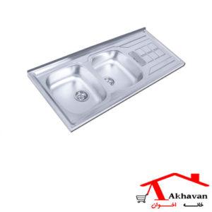 سینک ظرفشویی روکار کد 151SP اخوان