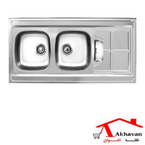 سینک ظرفشویی روکار کد 152SP اخوان
