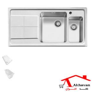 سینک ظرفشویی توکار کد 306S اخوان