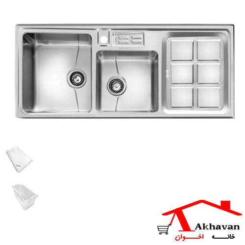 سینک ظرفشویی توکار کد 318S اخوان - خانه اخوان