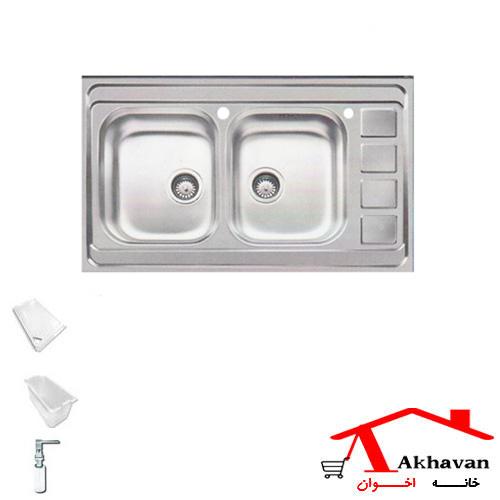 سینک ظرفشویی روکار کد 372 اخوان