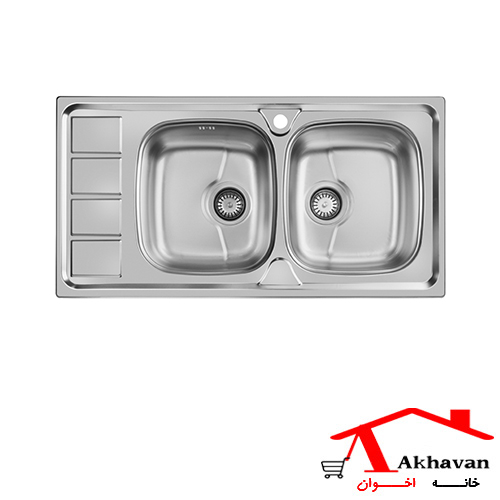سینک ظرفشویی توکار کد 164SP اخوان